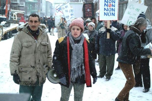 Image des comédiens Zinedine Soualem et Catherine Trudeau dans L'ange de goudron (Denis Chouinard, 2001 - Alliance Vivafilm)
