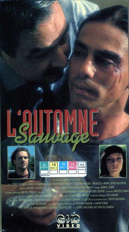 Jaquette VHS du film L'automne sauvage (Gabriel Pelletier - 1992 - Collection filmsquebec.com)