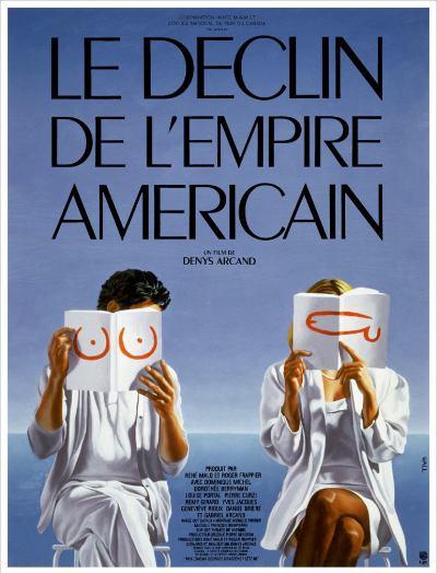 Affiche française du Déclin de l'empire américain (Arcand, 1986)