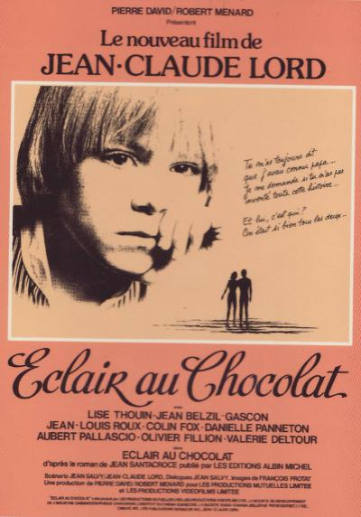 Affiche du film Éclair au chocolat de Jean-Claude Lord (source: spectacularoptical)