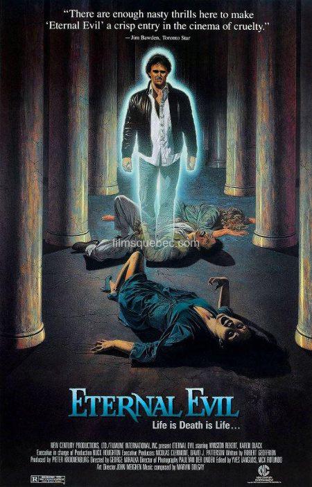 Affiche américaine du film The Blue Man de George Mihalka (titre Eternal Evil - Source: Chicart PR)