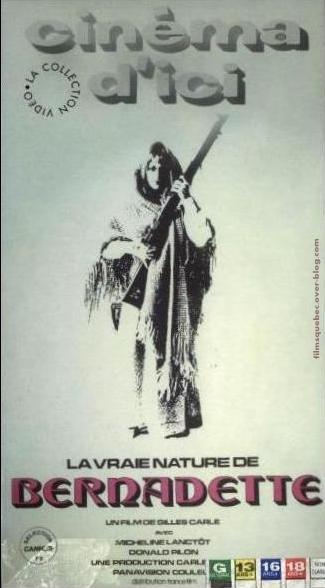 Jaquette VHS originale du film La vraie nature de Bernadette (Gilles Carle, 1972)