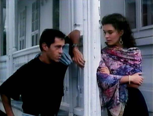 Image des acteurs en pleine séparation pour Philippe Volter (g.) et Dominique Leduc (d.) dans le film Aline de Carole Laganière (Collection personnelle)