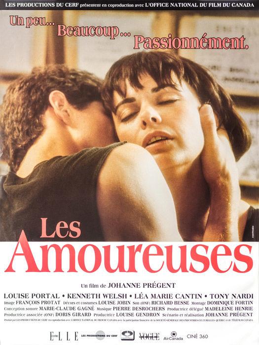 Affiche du film Les amoureuses (coll. Cinémathèque québécoise)