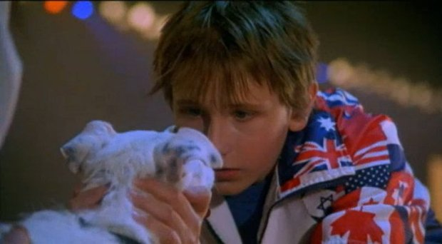 Matthew Harbour et le chien Gypsy dans Daniel et les Superdogs (coll. personnelle)