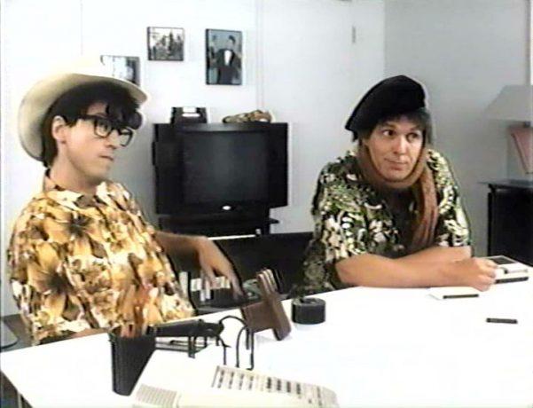 Claude Meunier et Serge Thériault dans Ding et Dong le film - rencontre avec Roger Ben-Hur - (image tirée du film - Coll. filmsquebec.com)