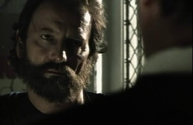 Image de Michel Côté face à Robert Gravel dans le film Erreur sur la personne de Gilles Noel (Collection personnelle)