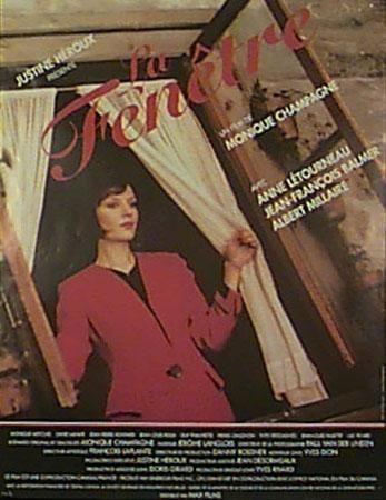 Affiche du film La Fenêtre de Monique Champagne (Coll. Cinémathèque québécoise)