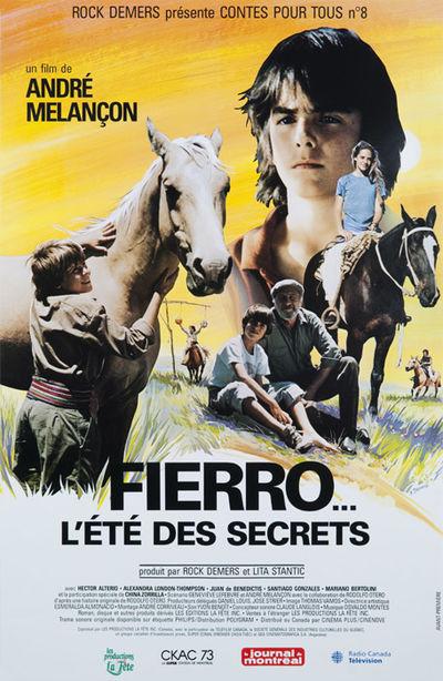 Affiche québécoise du film Fierro... l'été des secrets
