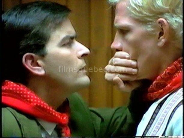 Les acteurs américains Charlie Sheen et Thomas Haden-Church ont tourné au Québec dans Free Money de Yves Simoneau (image extraite du film)