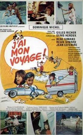 Affiche du film J'ai mon voyage! (Denis Héroux, 1973 - Coll. Cinémathèque québécoise)