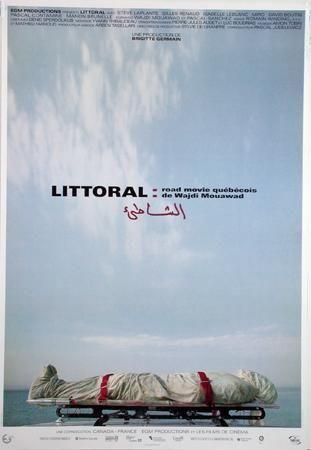 Affiche du film Littoral de Wajdi Mouawad (affiche de Yvan Adam)