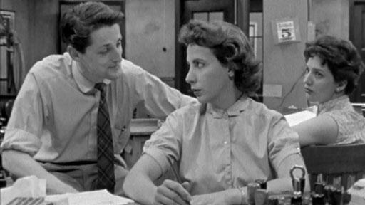 Jean Brousseau et Denise Provost dans Les mains nettes (Claude Jutra, 1958 - ©ONF)