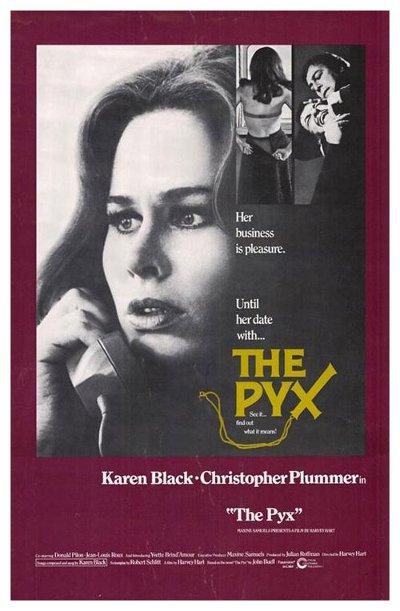Affiche du drame d'horreur The Pyx (Hart, 1973 - Cinépix)