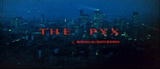 The Pyx, la première image du générique du film de Harvey hart