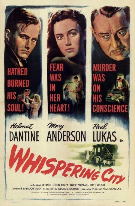 Affiche du film Whispering City (la version anglaise du film La forteresse)