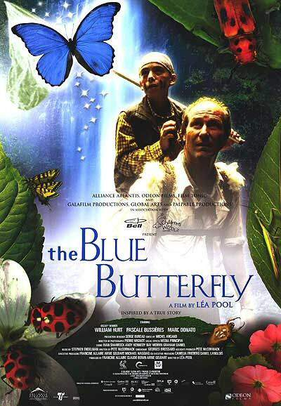 Affiche anglophone du film Le Papillon Bleu (The Blue Butterfly)