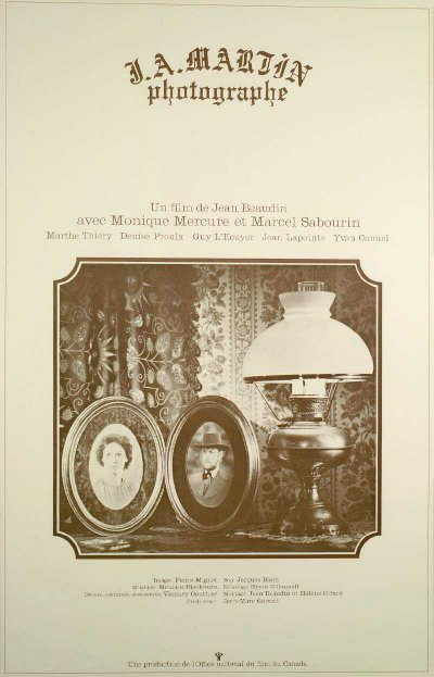 Affiche du film J.A. Martin photographe (Jean Beaudin, 1977 - ONF)