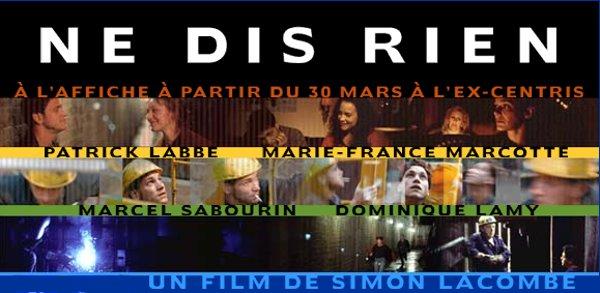 Bannière du site internet du film Ne dis rien de Simon Lacombe