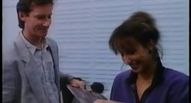Danielle Proulx et Marc Messier dans Une portion d'éternité de Robert Favreau - Le couple heureux, se prépare à avoir un enfant fécondé in-vitro - Source: collection personnelle