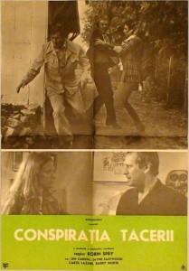 Affiche roumaine du film One Man de Robin Spry (titre sur l'affiche Conspiratia Tacerii)