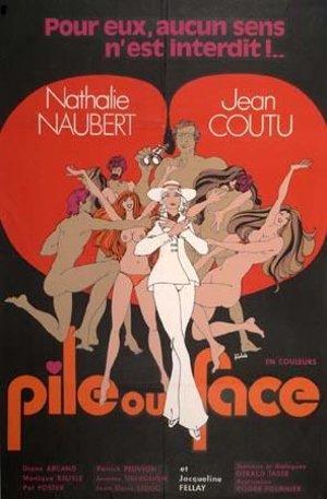 Affiche du film Pile ou face (Roger Fournier, 1971 - Coll. Cinémathèque québécoise)