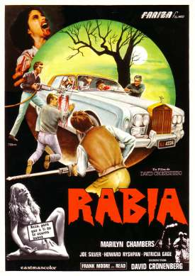 Affiche italienne du film Rabid de David Cronenberg (1977)