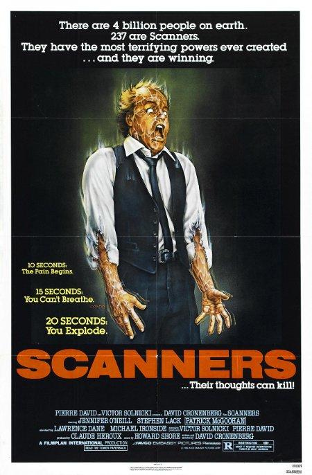 Affiche américaine du film Scanners de David Cronenberg