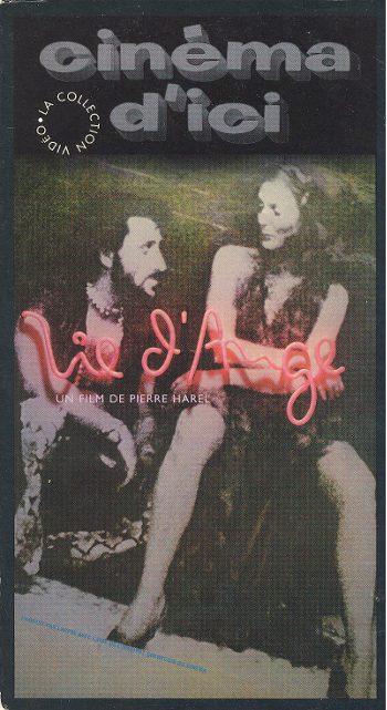 Jaquette de la VHS du film Vie d'ange (Pierre Harel 1979 - source image : collection personnelle)