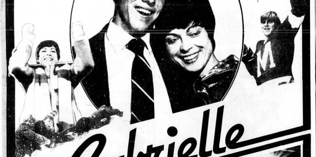 Pour le film Gabrielle, un encart publicitaire pleine page avait été publié dans La Presse le 19 avril 1980