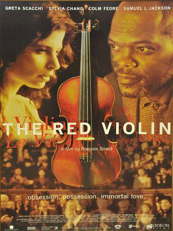 Affiche canadienne du film The Red Violin (Le violon rouge) de François Girard