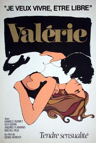 Affiche originale du film Valérie de Denis Héroux
