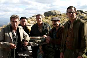 Le groupe de malfrats bonasses de Les doigts croches réalisé par Ken Scott (2009, ©Alliance Vivafilm)