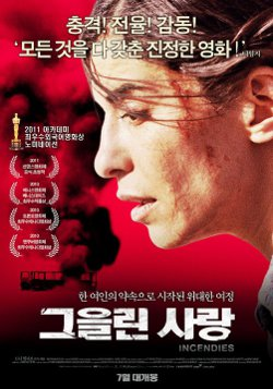 Affiche Coréenne du film Incendies