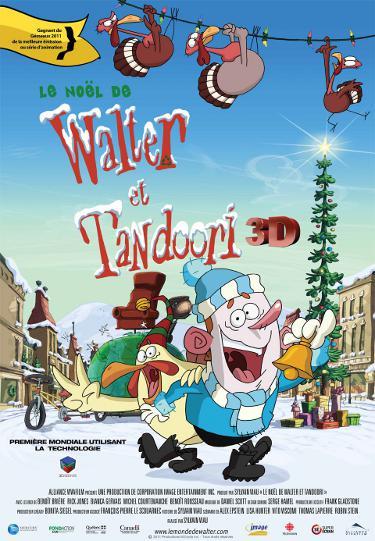 Affiche du film d'animation de Sylvain Viau, Le Noël de Walter et Tandoori