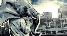 Nuages sur la ville (visuel de l'affiche)