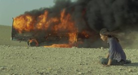 Incendies de Denis Villeneuve (Lubna Azabal sort du bus en flammes)