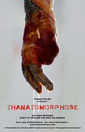 Affiche temporaire du film Thanatomorphose d'Éric Falardeau