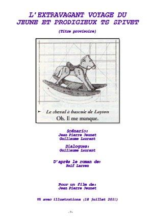 Couverture du script de Jean-Pierre Jeunet