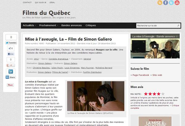 Films du Québec - Exemple de fiche détaillée de film, nouvelle version