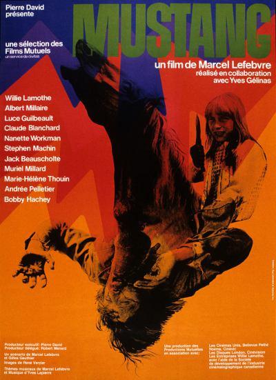 Affiche du western québécois Mustang (1975 - Collection Cinémathèque québécoise)
