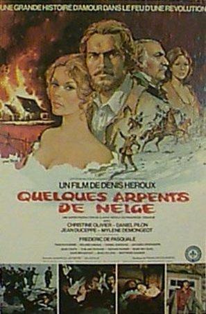 Affiche du film Quelques arpents de neige (D. Héroux, 1972 - Coll. Cinémathèque québécoise)