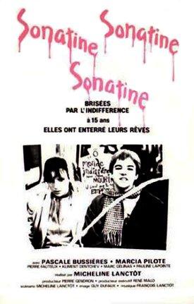 Affiche du film Sonatine (Micheline Lanctôt, 1984 - ©Les Films René Malo)