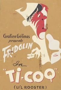 Affiche de théâtre de la pièce Tit-Coq de Gratien Gélinas