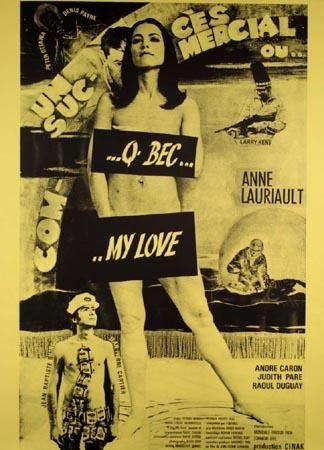 Affiche du film Q-Bec My Love (Jean Pierre Lefebvre, 1970 - Source collection Cinémathèque québecoise)