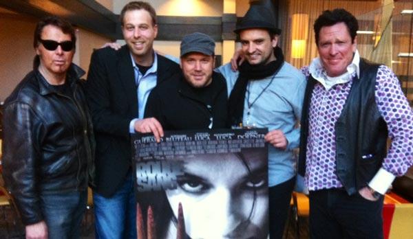 Larry Bishop, Alessandro Luca, Bruno Rosato, Martin Doepner, Michael Madsen lors de la présentation de Rouge sang au Festival