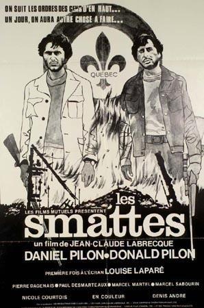 Affiche du film québécois Les Smattes (Labrecque, 1972 - Coll. Cinémathèque québécoise)