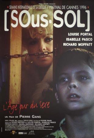 Affiche du film québécois Sous-sol (Pierre Gang, 1996 - affiche: Coll. Cinémathèque québécoise)