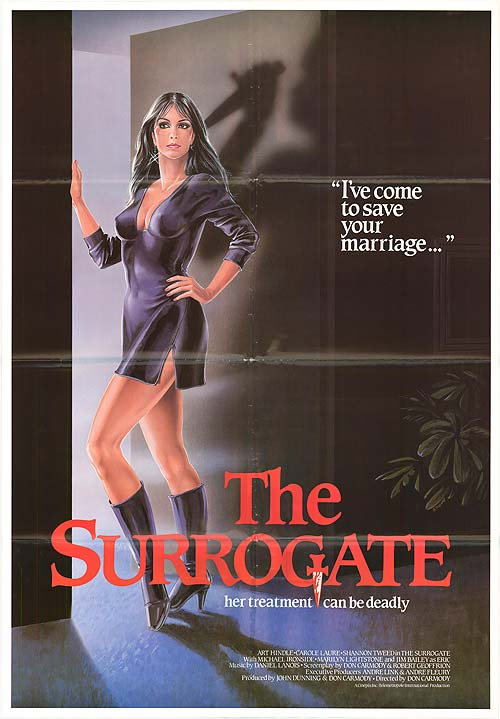 Affiche du film The Surrogate (Don Carmody, 1984 - source Movie Posters)