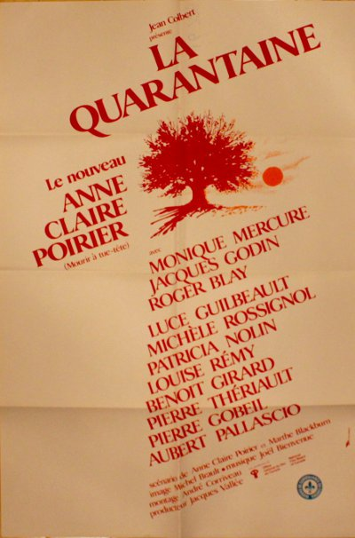 Affiche du film La quarantaine (Anne Claire Poirier, 1982 - source image: Pinned to the Wall - Movie Posters)